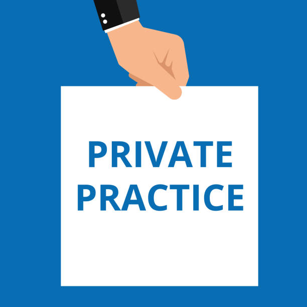 Conceptual writing showing Private Practice. vector art illustration
