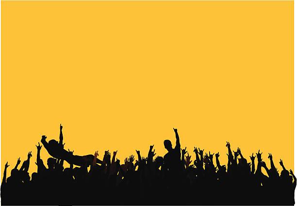 koncert tłum - jumping stock illustrations