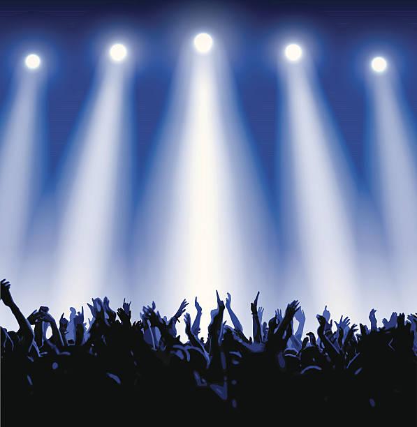 コンサートの群集 - ステージのイラスト点のイラスト素材/クリップアート素材/マンガ素材/アイコン素材
