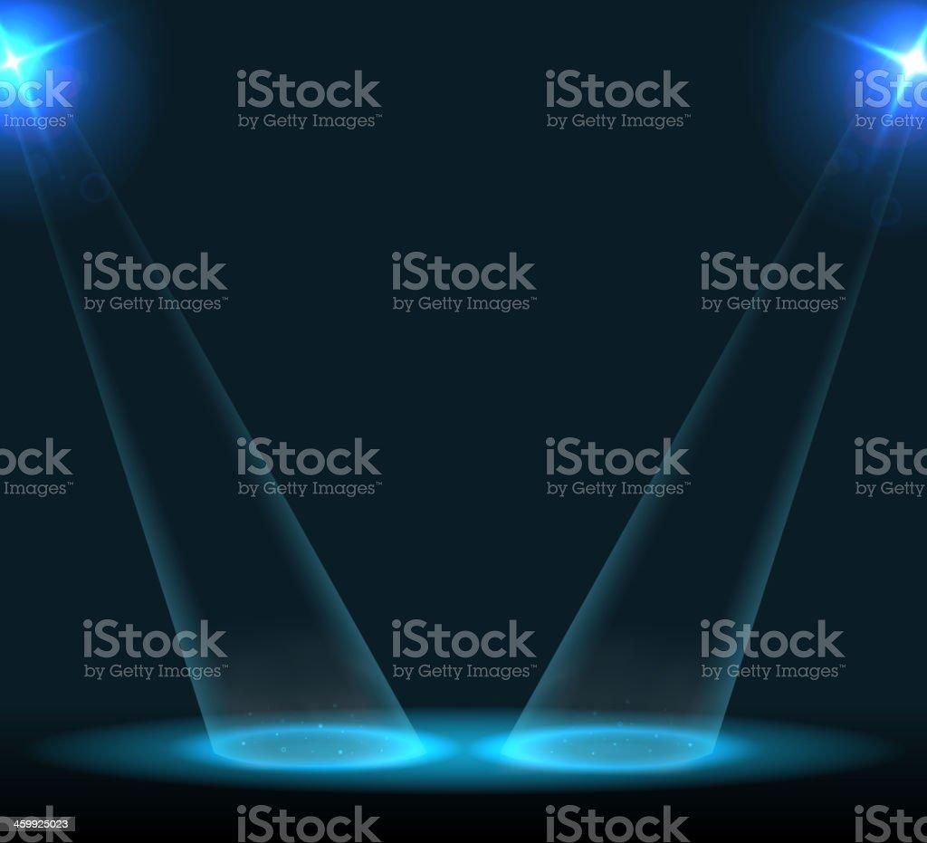 Concert lighting against a dark background royalty-free stock vector art