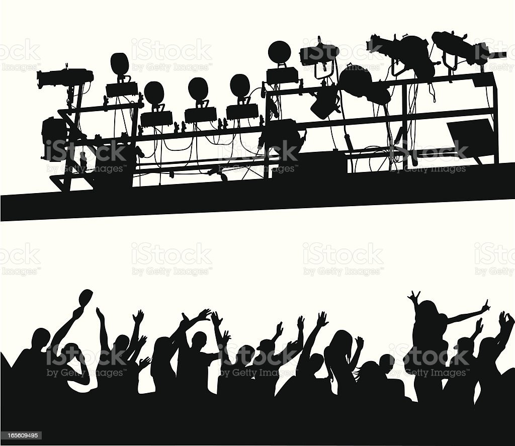 Concert Lighting Vector Silhouette royalty-free stock vector art