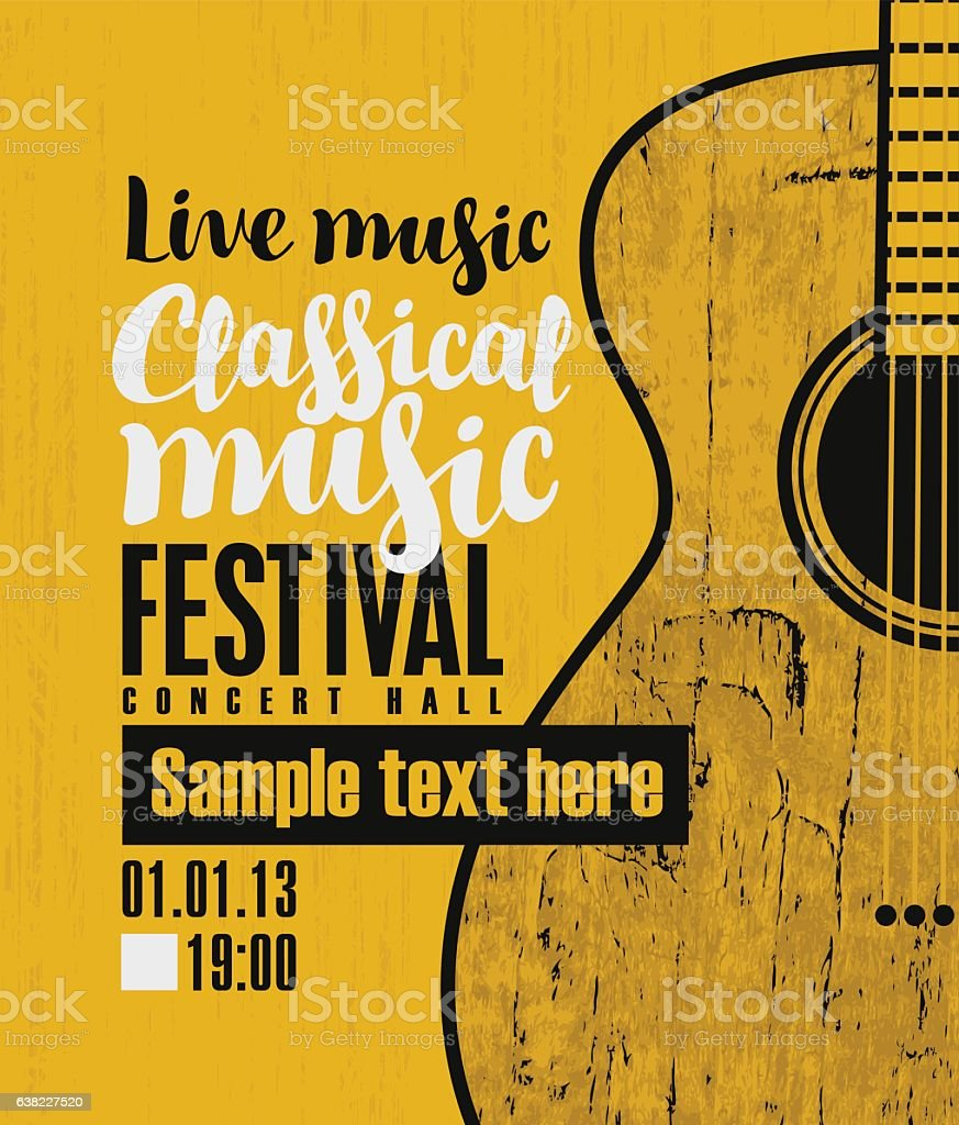 concert of classical live music vector art illustration