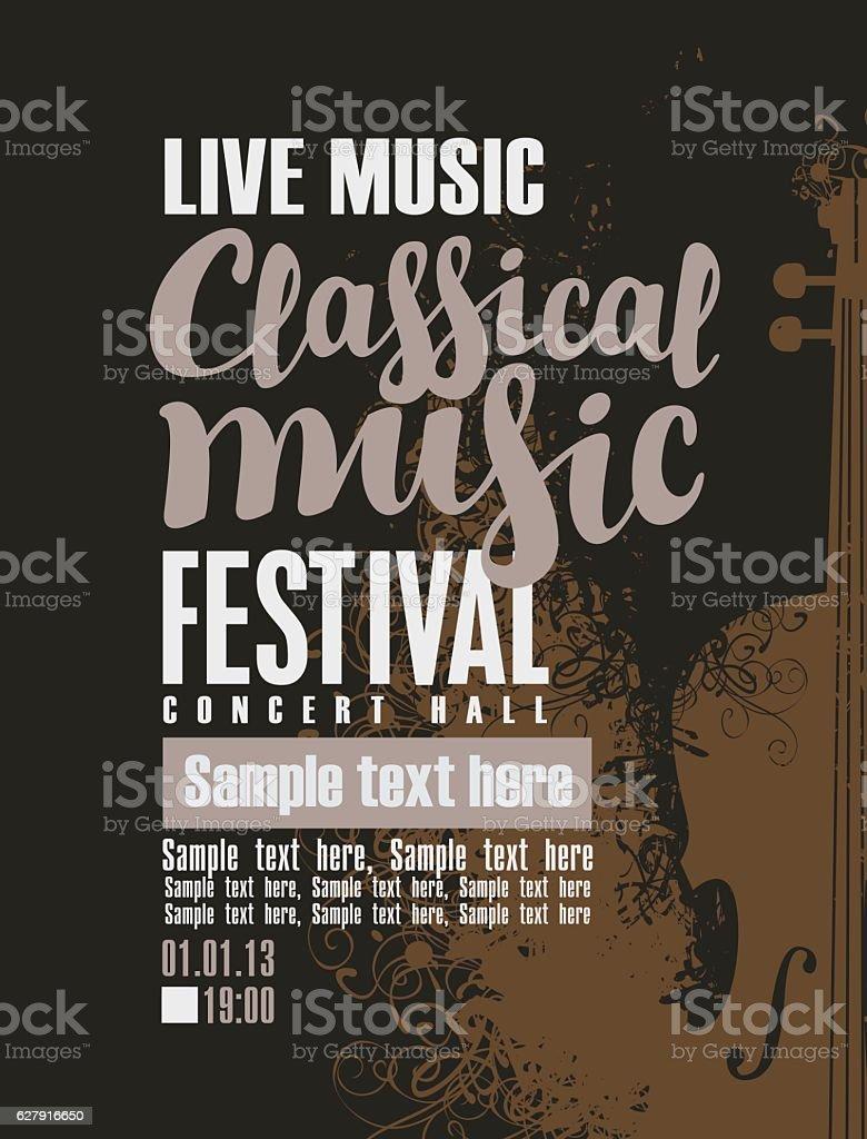 concert of classical music vector art illustration