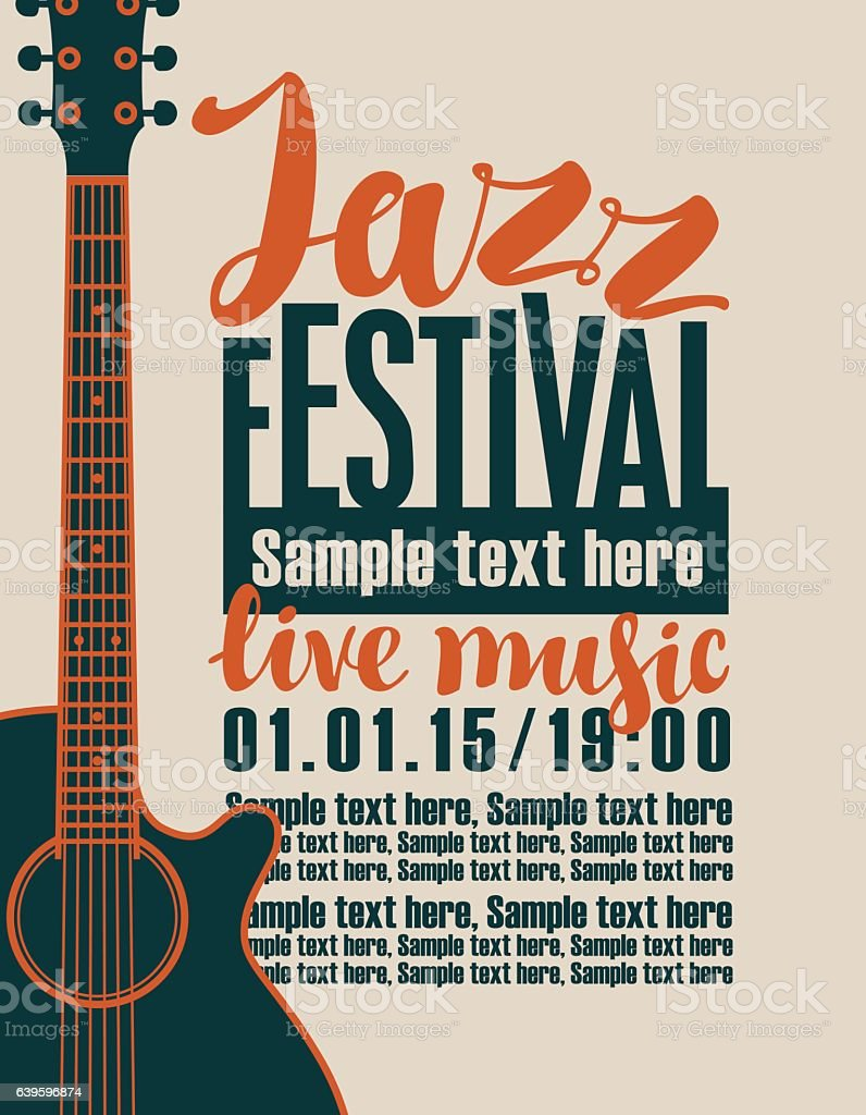 concert of jazz music vector art illustration