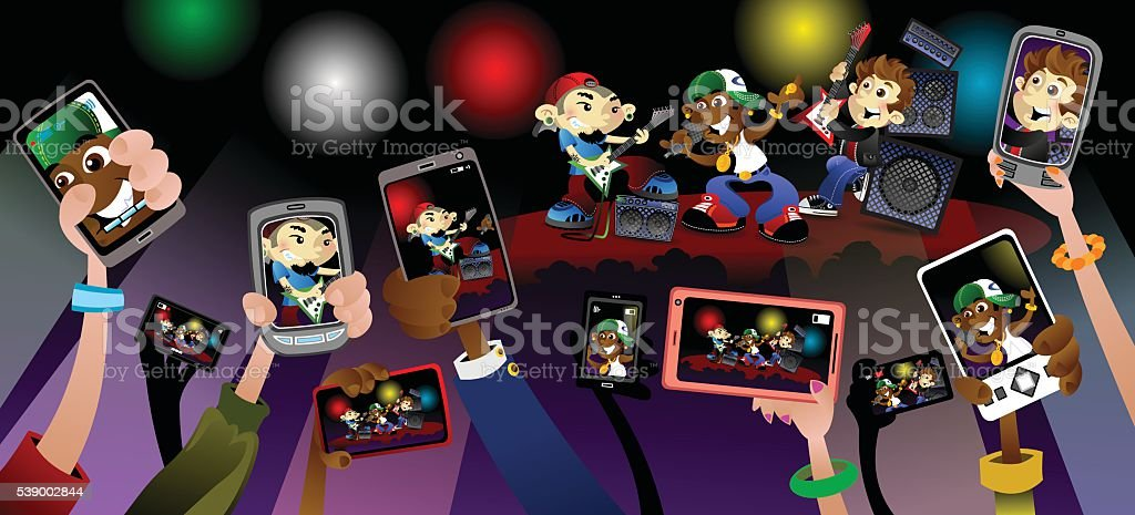 Concert Phones royalty-free concert phones stock vector art & more images of arts culture and entertainment