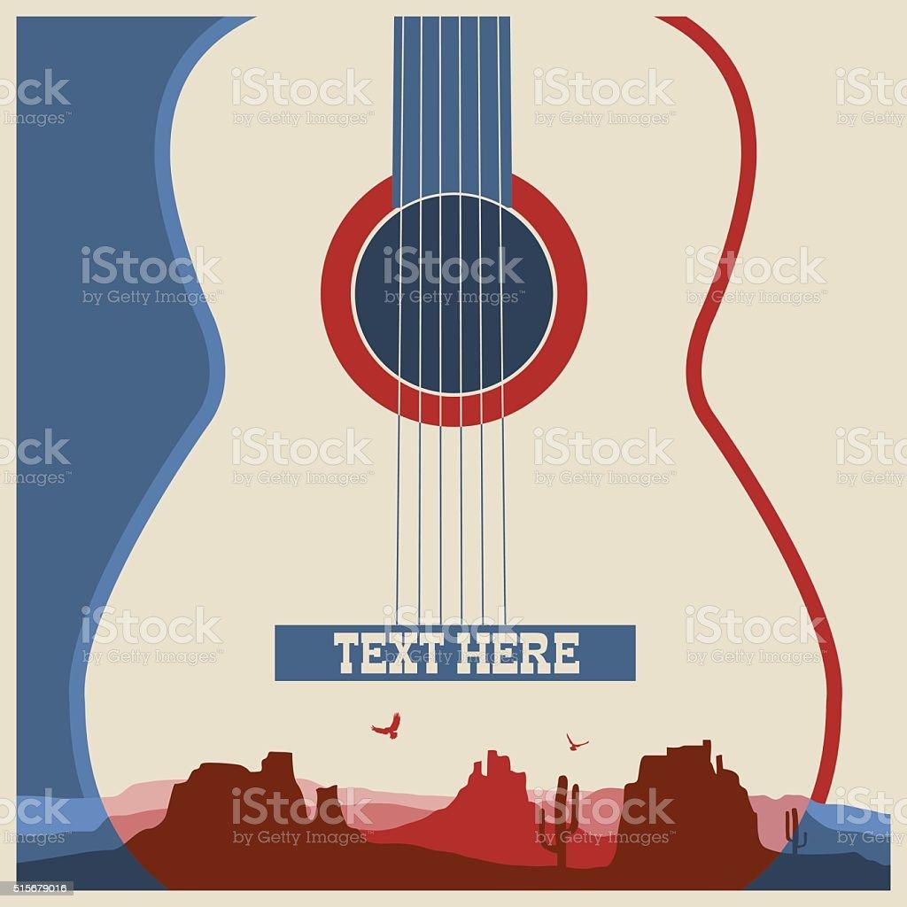 Concert poster of music festival. vector art illustration