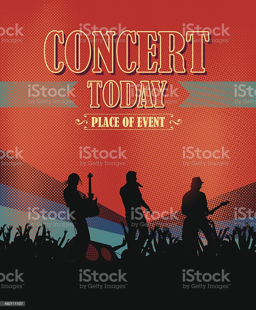 Concert scene royalty-free stock vector art