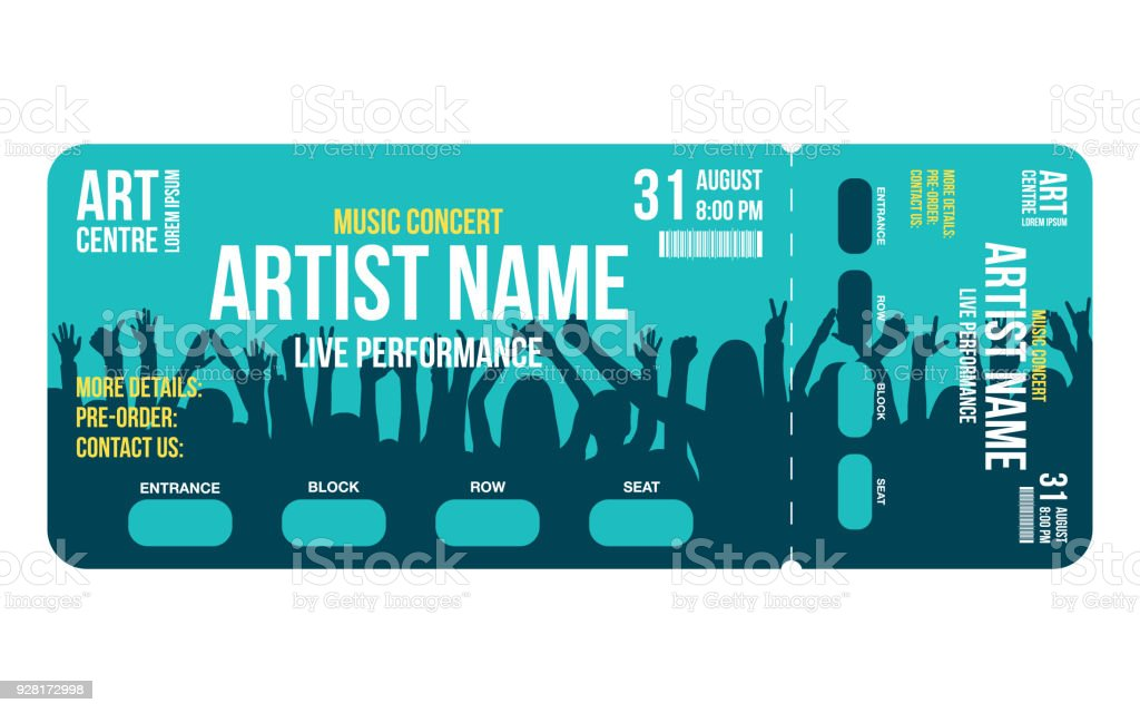 Concert Ticket Template Concert Party Or Festival Ticket Design