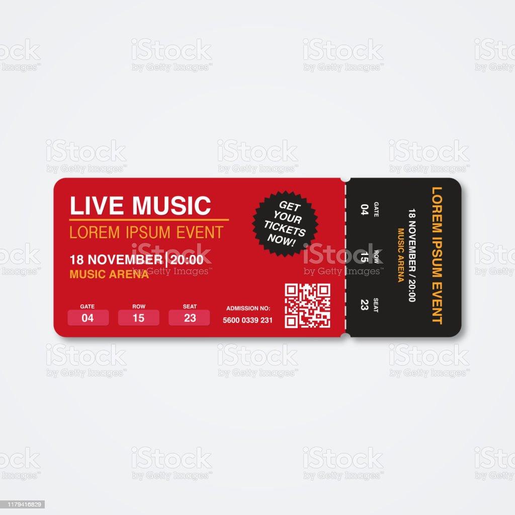 コンサートチケットテンプレートコンサートサマーパーティーフェスティバルチケットデザインテンプレート Djのベクターアート素材や画像を多数ご用意 Istock