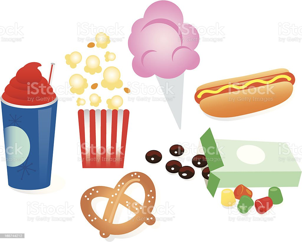 Concession Treats royalty-free concession treats stock vector art & more images of candy