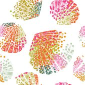 Conch pattern in abstract style. You can repeat it as much as you want.