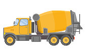 Industrial transport.Yellow lorry .