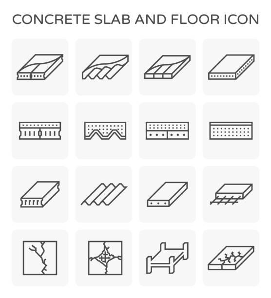 Betonplatte-Symbol – Vektorgrafik