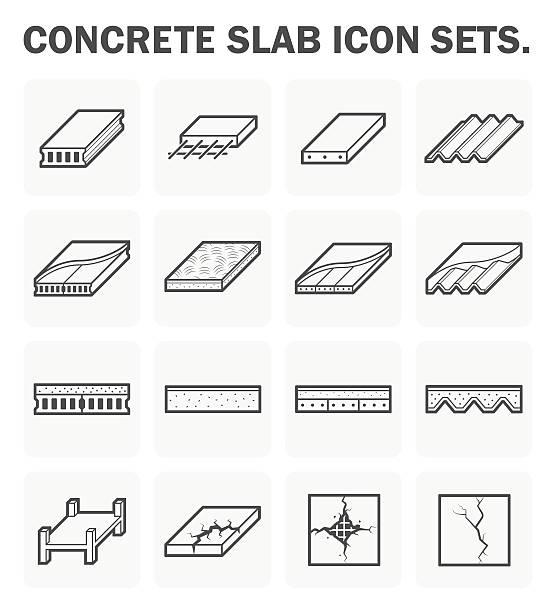 Beton Felsplatte – Vektorgrafik