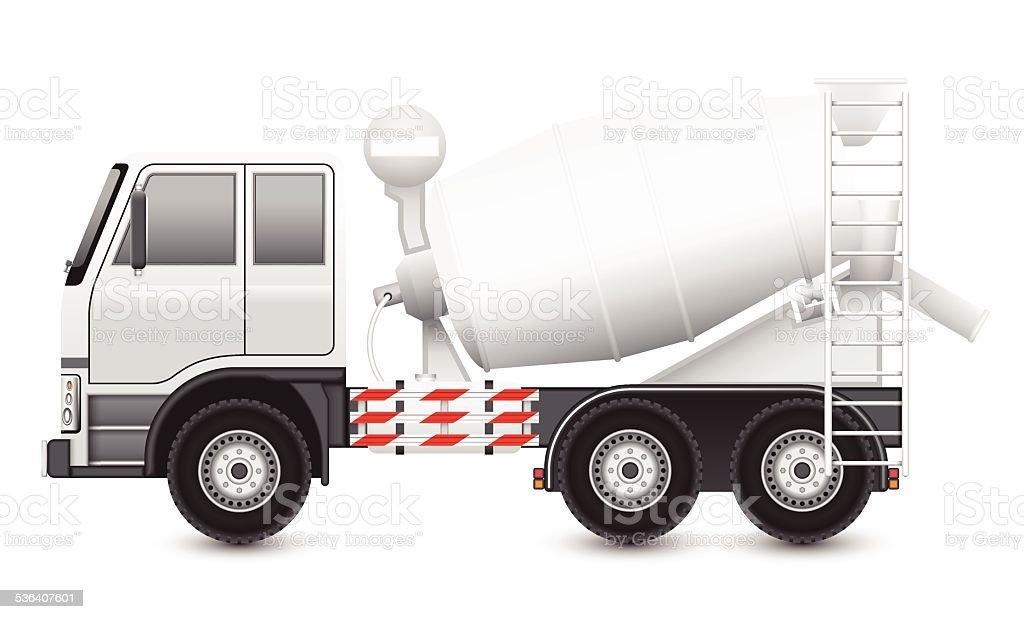 Concrete truck vector art illustration