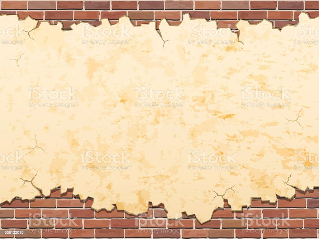 Concrete Wall And Bricks Vector Grunge Background Stock Vector Art ...