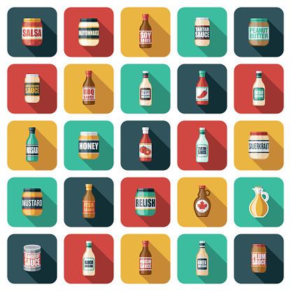Condiments Icon Set