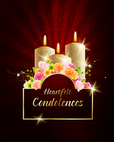 Condolences Card with Candles