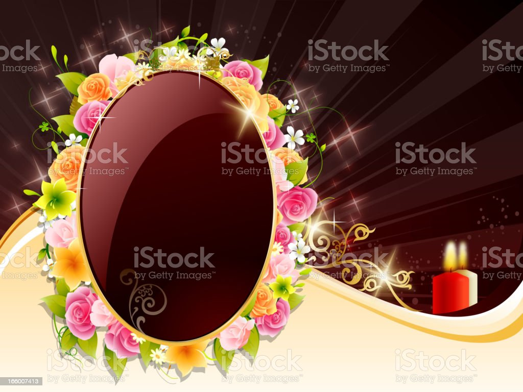 Condolences Frame with Candles royalty-free condolences frame with candles stock vector art & more images of brown