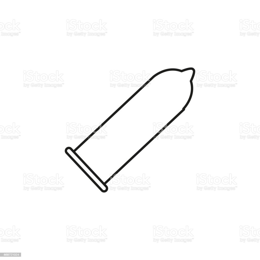 condom icon vector art illustration