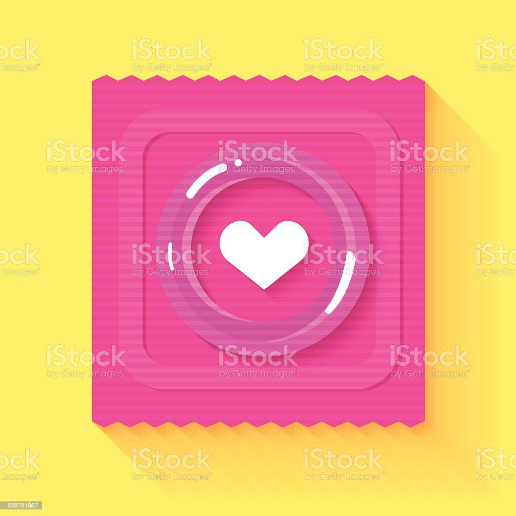 Condom Love vector art illustration