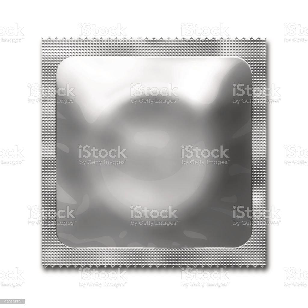 Condom Packaging Blank vector art illustration