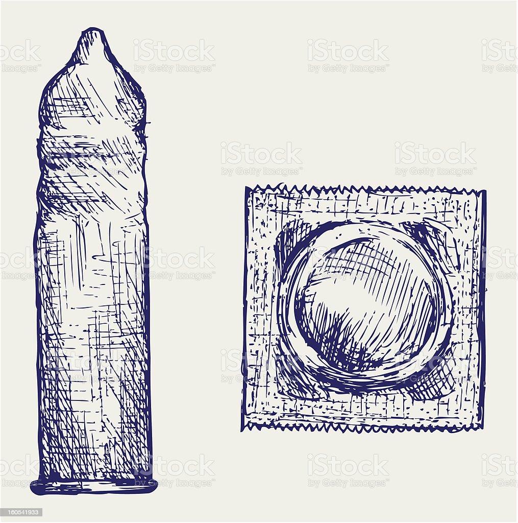 Condom ready to use royalty-free stock vector art