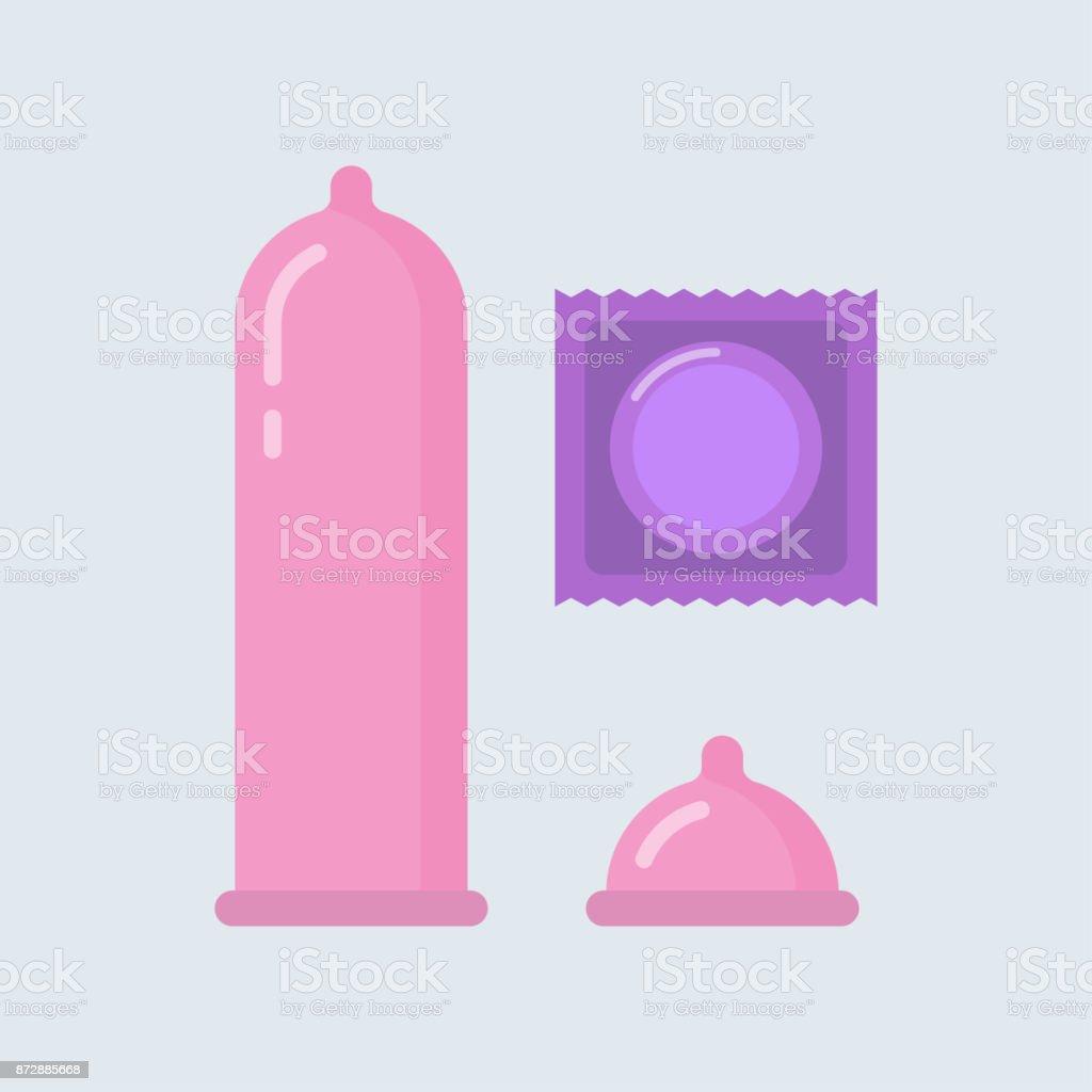 Condom vector illustration vector art illustration