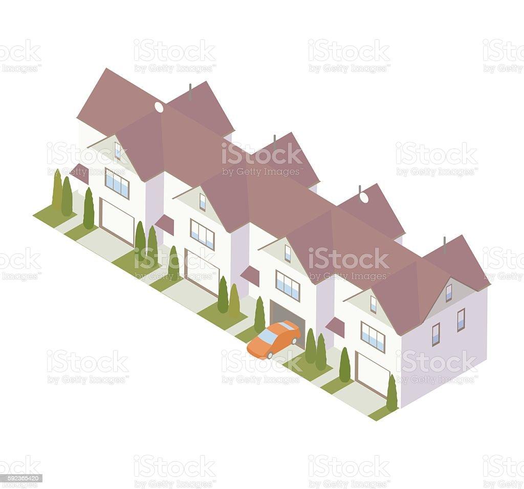 Condominium row illustration vector art illustration