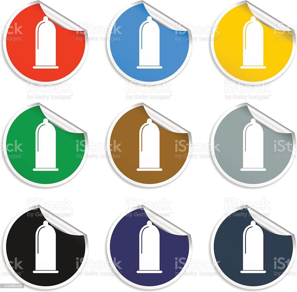 Condoms icon vector art illustration