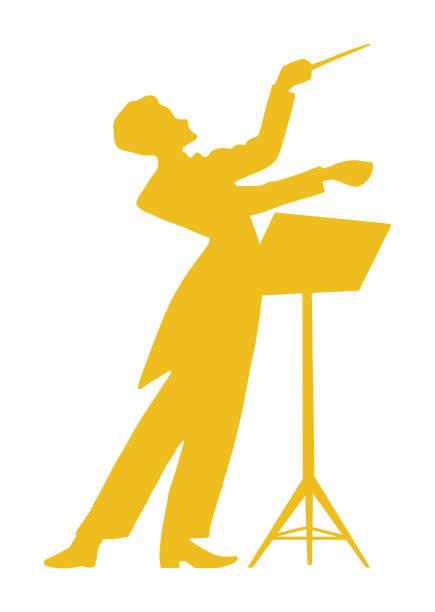 dirigent am stand - bandleader stock-grafiken, -clipart, -cartoons und -symbole