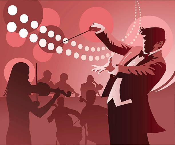 dirigent durchführung - bandleader stock-grafiken, -clipart, -cartoons und -symbole