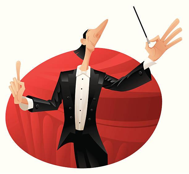 conductor - bandleader stock-grafiken, -clipart, -cartoons und -symbole