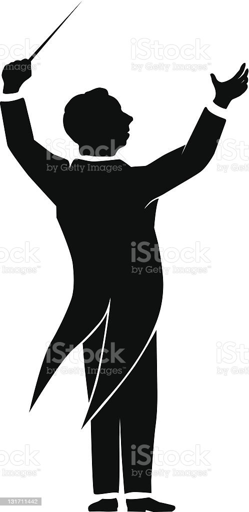 royalty free orchestra conductor clip art vector images rh istockphoto com bus conductor clipart choir conductor clipart