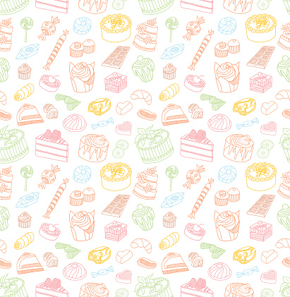 Confectionery Seamless Doodles