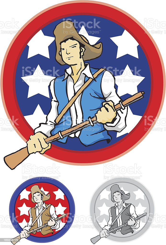 Confederate Soldier for Independence Day vector art illustration
