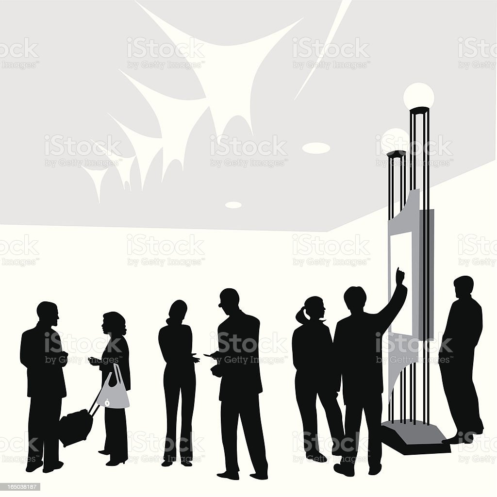 Conference Center Vector Silhouette vector art illustration