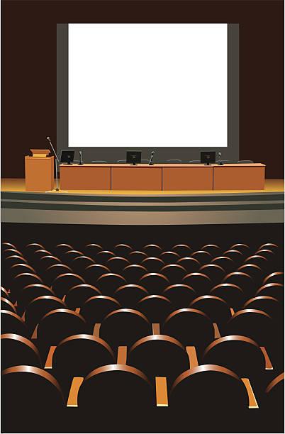 conference hall vector art illustration