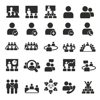 Conference icons clipart