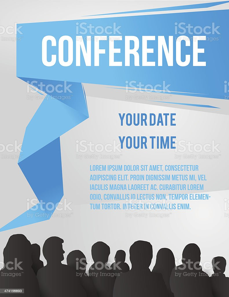 Conference illustration vector art illustration
