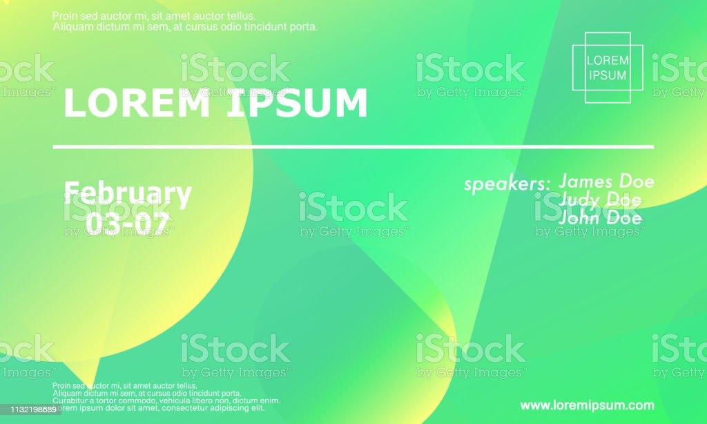 Conference Invitation Design Template Stock Illustration