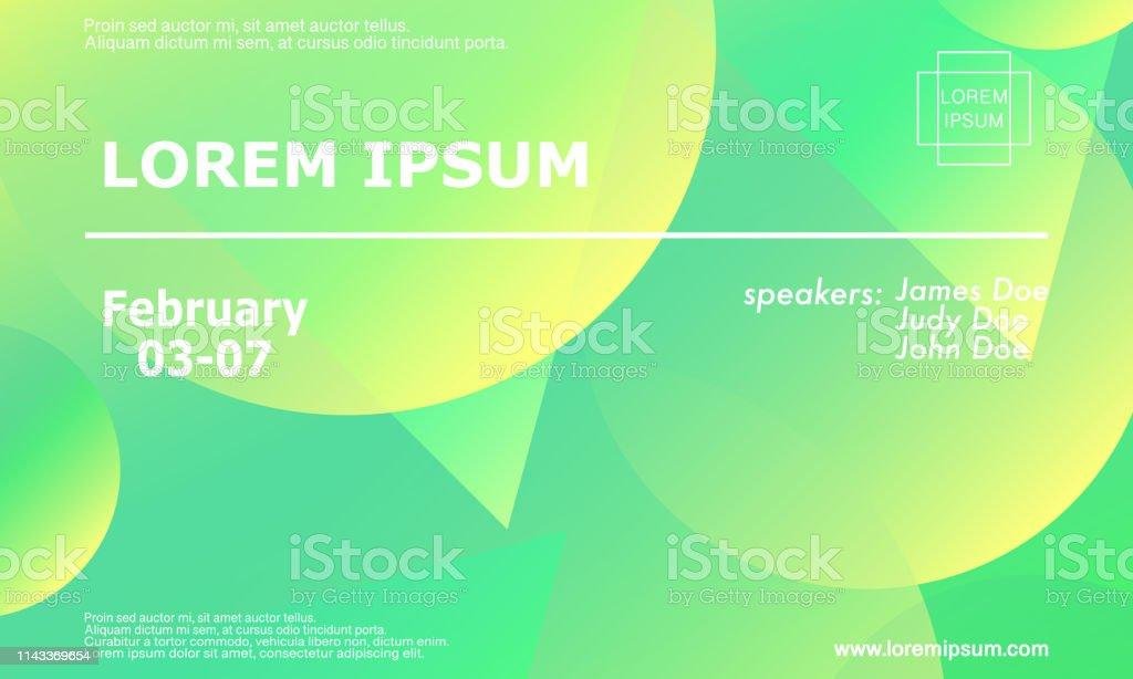 Conference Invitation Design Template Stock Vector Art