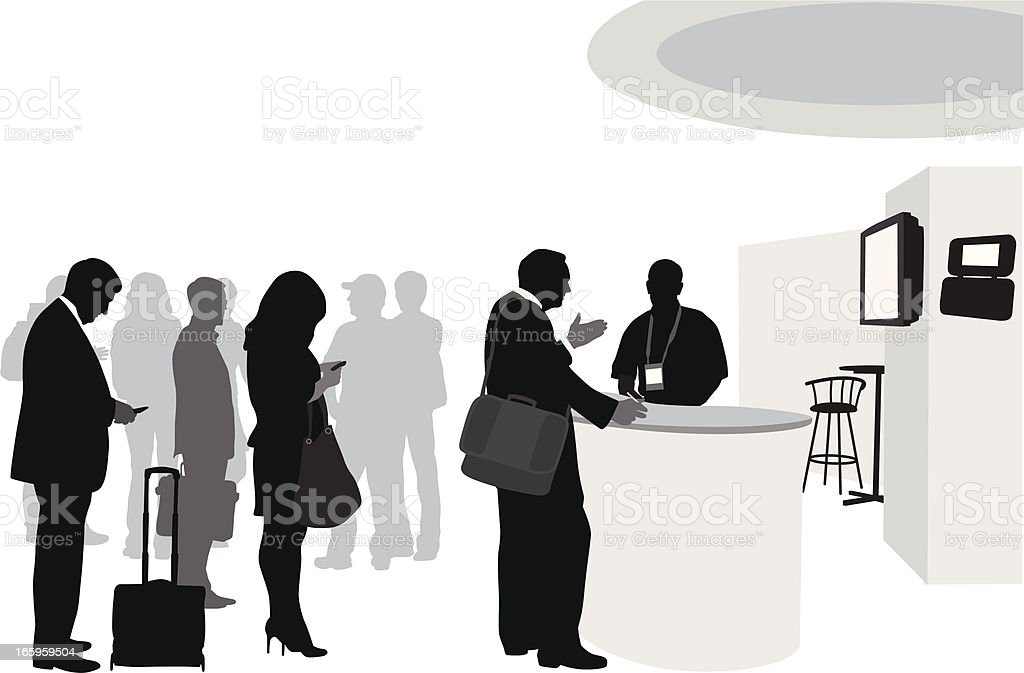 Conference Lineup Vector Silhouette royalty-free stock vector art