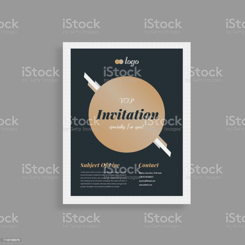 Conference Reception Wedding Event Party Card Invitation