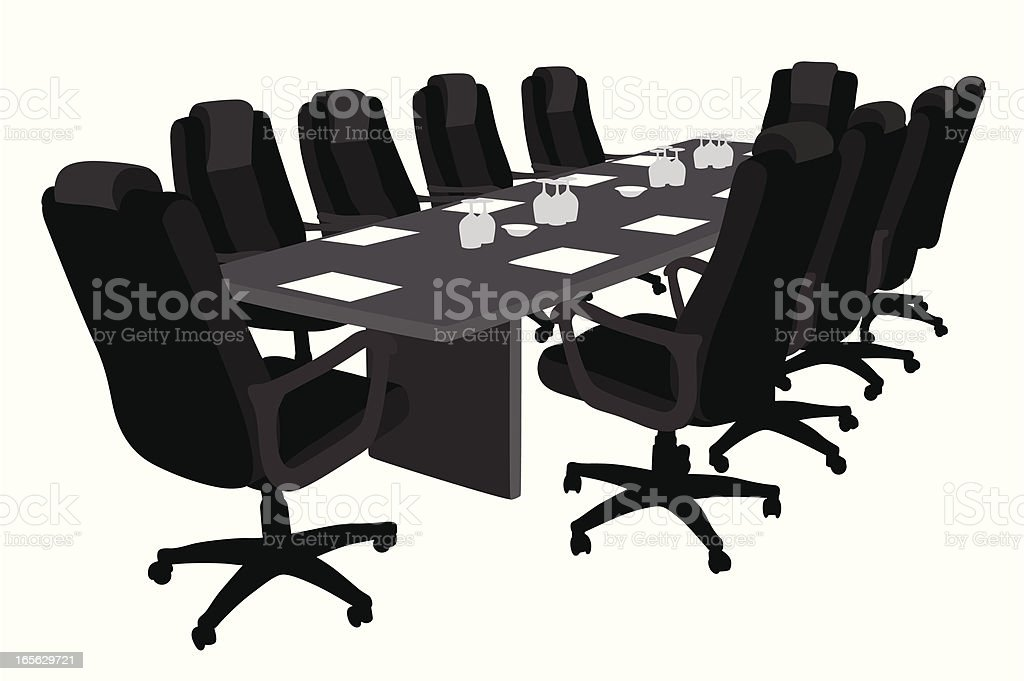 Conference Room Vector Silhouette royalty-free conference room vector silhouette stock vector art & more images of black color
