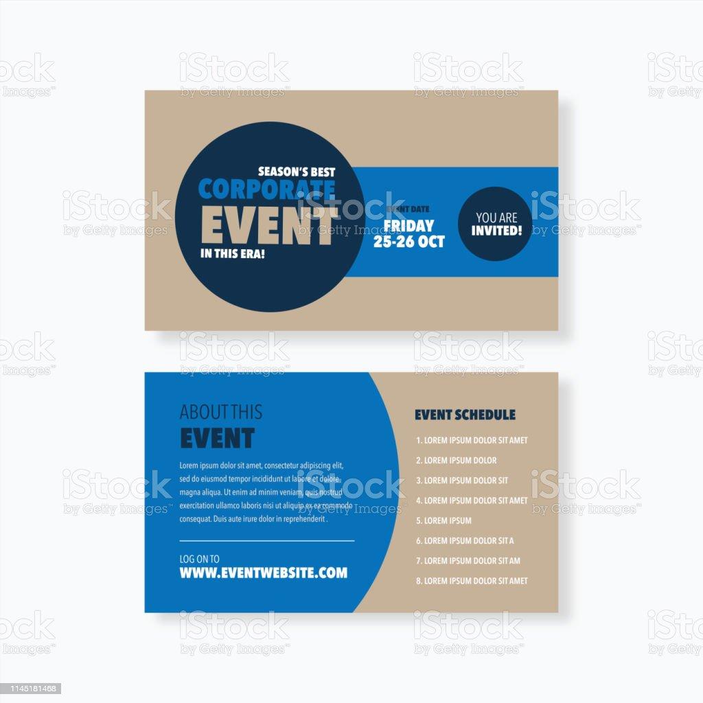 Conference Seminar Event Card Invitation Design Stock