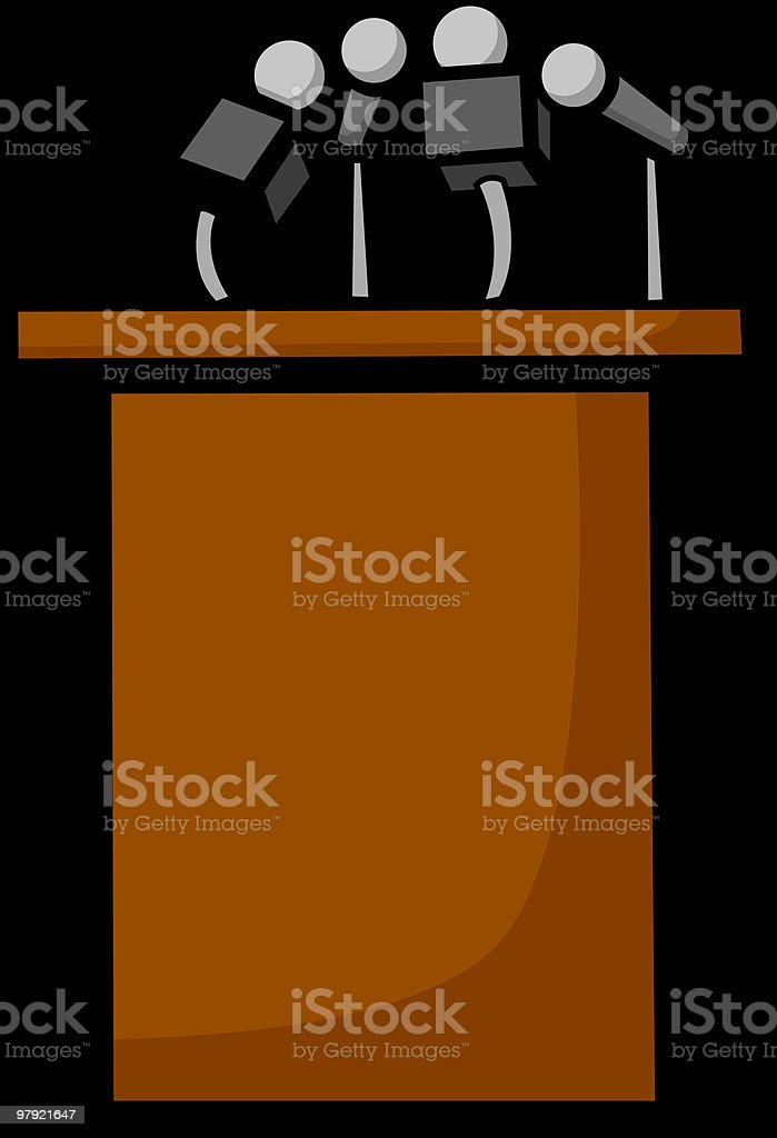 conference stand with microphone royalty-free conference stand with microphone stock vector art & more images of business