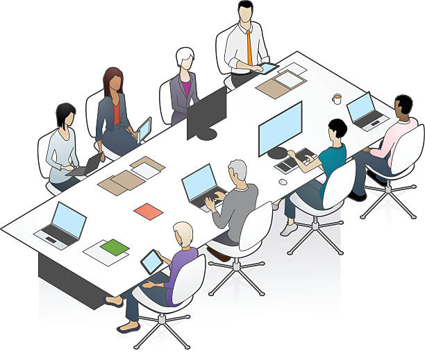 Conference Table Illustration vector art illustration