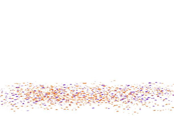 illustrations, cliparts, dessins animés et icônes de confettis et papier étoiles chute concept halloween, fantaisie brillante sur la plancher célébration festival partie vacances abstrait vector illustration - sol caractéristiques d'une construction