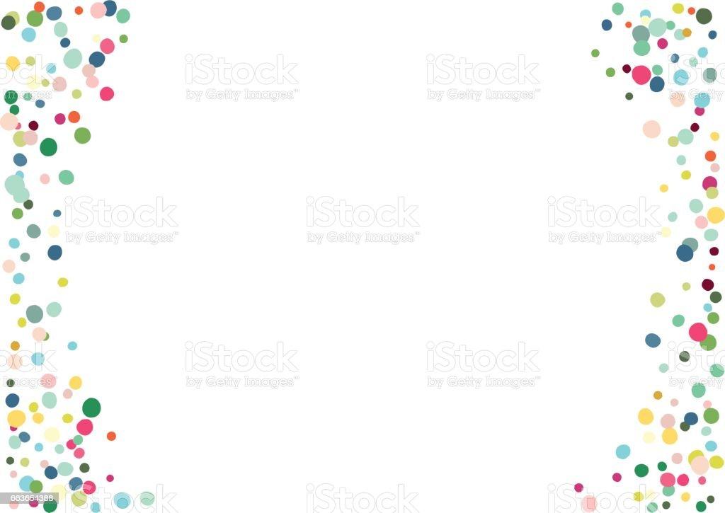 confetti background - illustrazione arte vettoriale